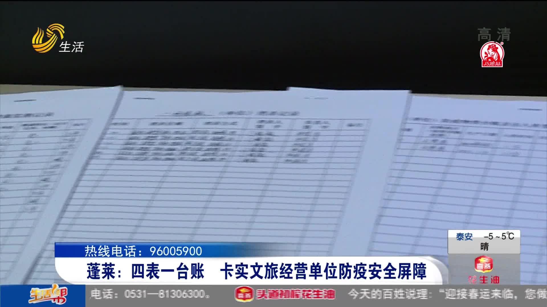 蓬莱:四表一台账 卡实文旅经营单位防疫安全屏障