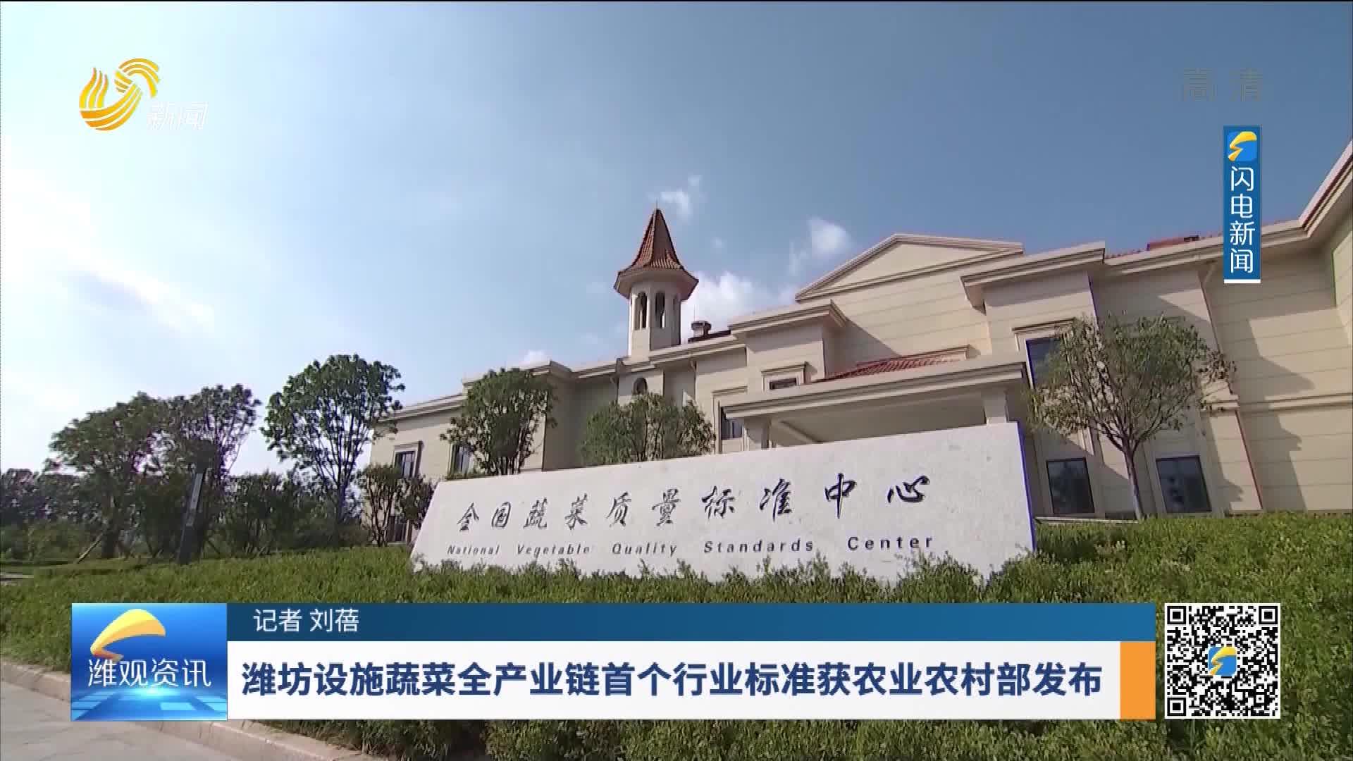 潍坊设施蔬菜全产业链首个行业标准获农业农村部发布