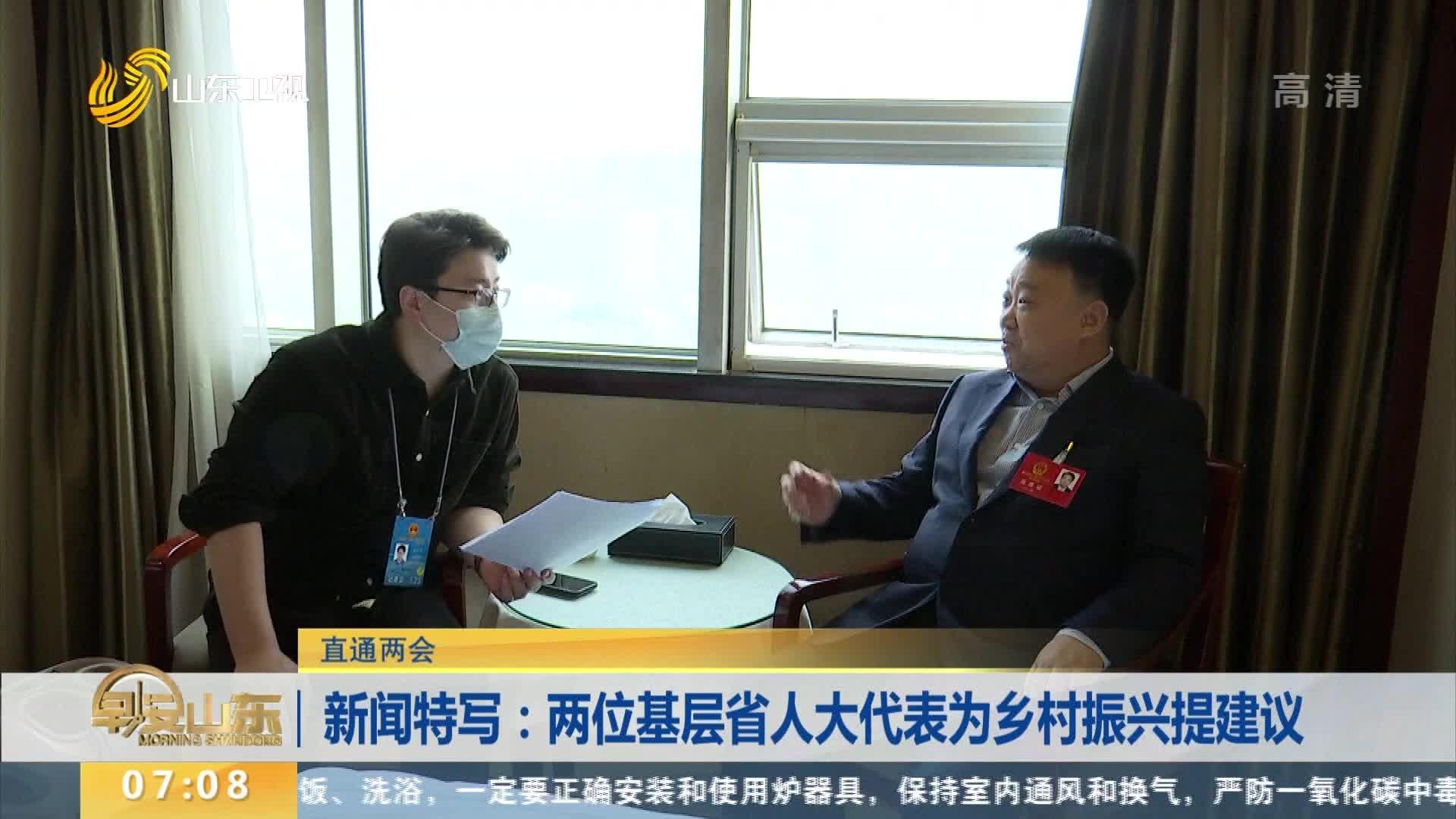 新闻特写:两位基层省人大代表为乡村振兴提建议