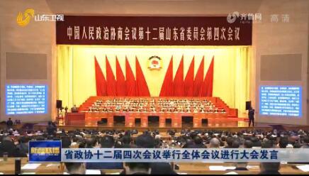 省政协十二届四次会议举行全体会议进行大会发言