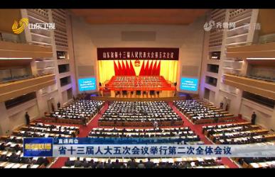 【直通两会】省十三届人大五次会议举行第二次全体会议