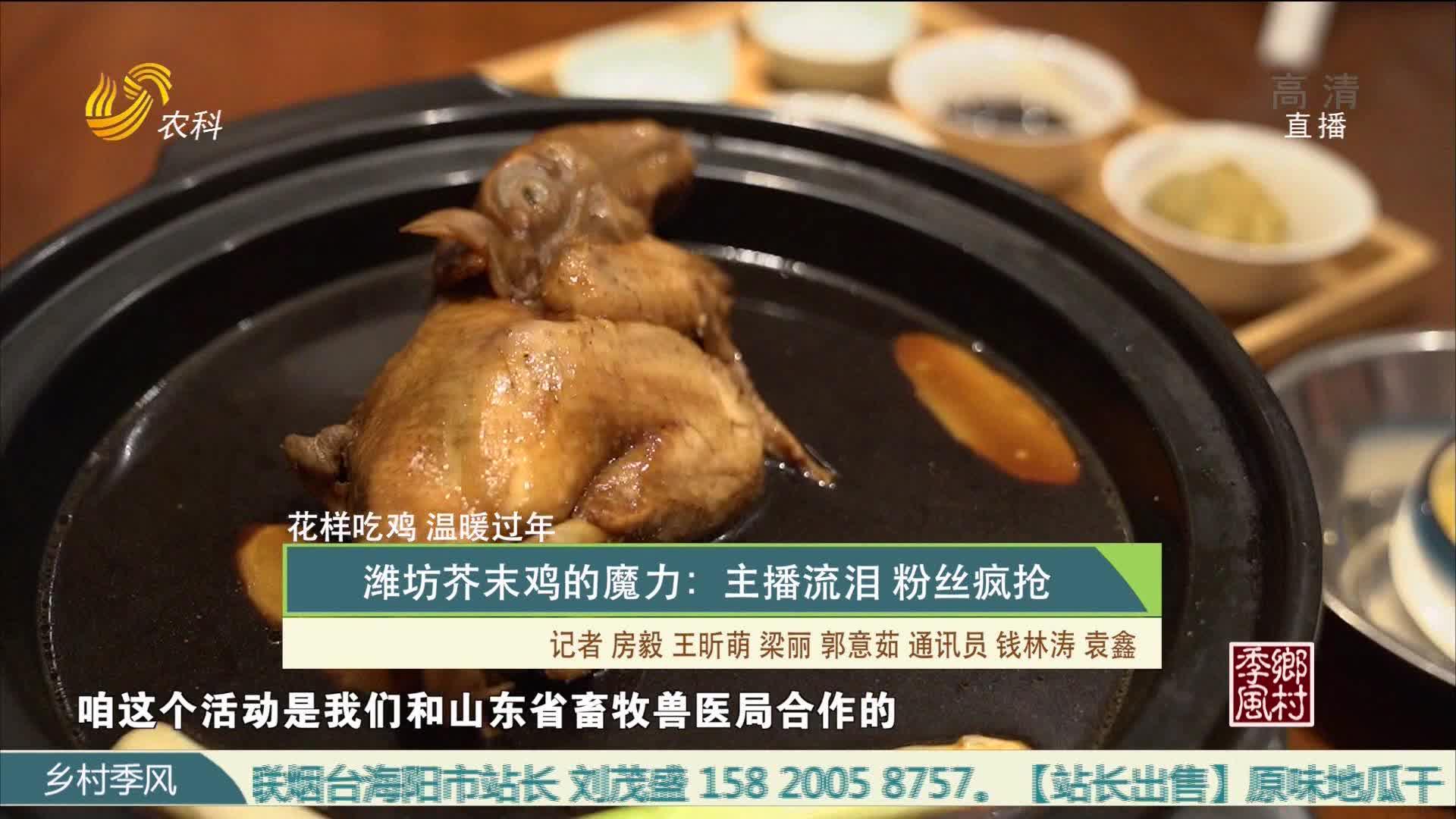 【花样吃鸡 温暖过年】潍坊芥末鸡的魔力:主播流泪 粉丝疯抢