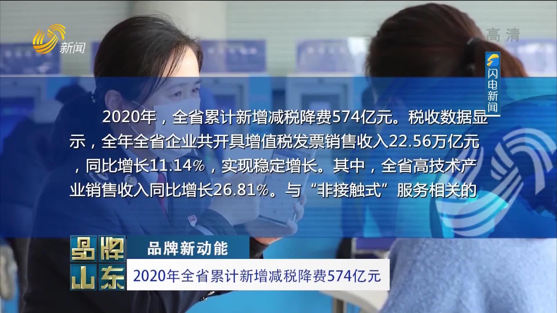 【品牌新动能】2020年全省累计新增减税降费574亿元