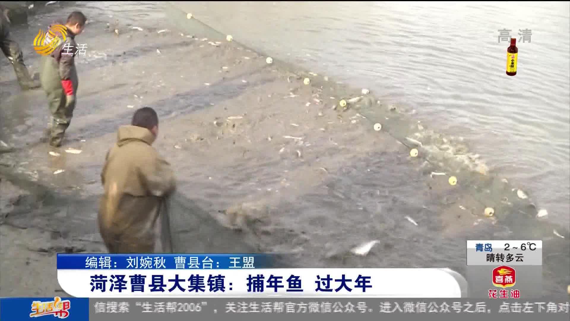 菏泽曹县大集镇:捕年鱼 过大年