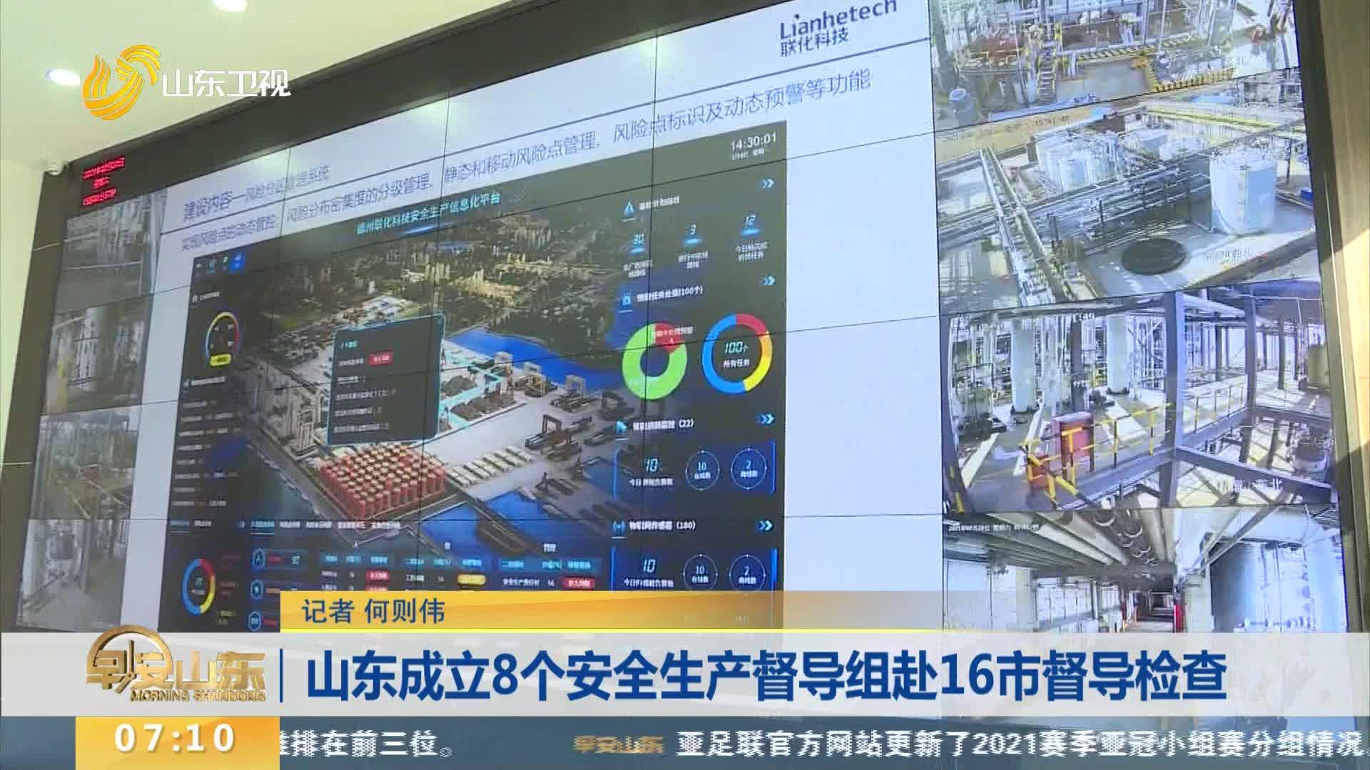 山东成立8个安全生产督导组赴16市督导检查