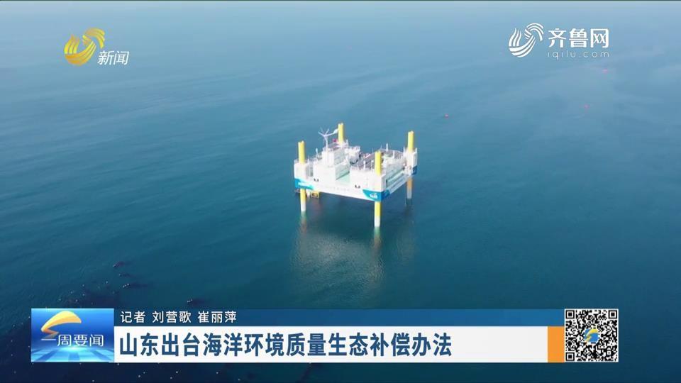 山东出台海洋环境质量生态补偿办法