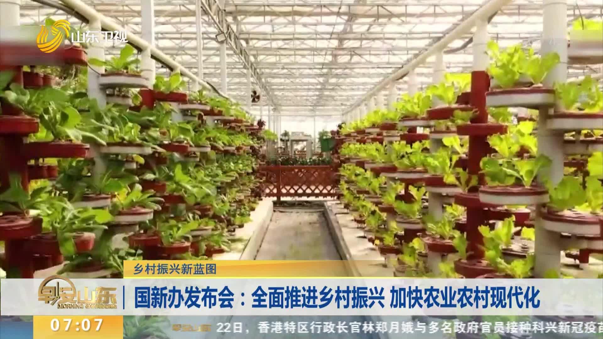 【乡村振兴新蓝图】国新办发布会:全面推进乡村振兴 加快农业农村现代化