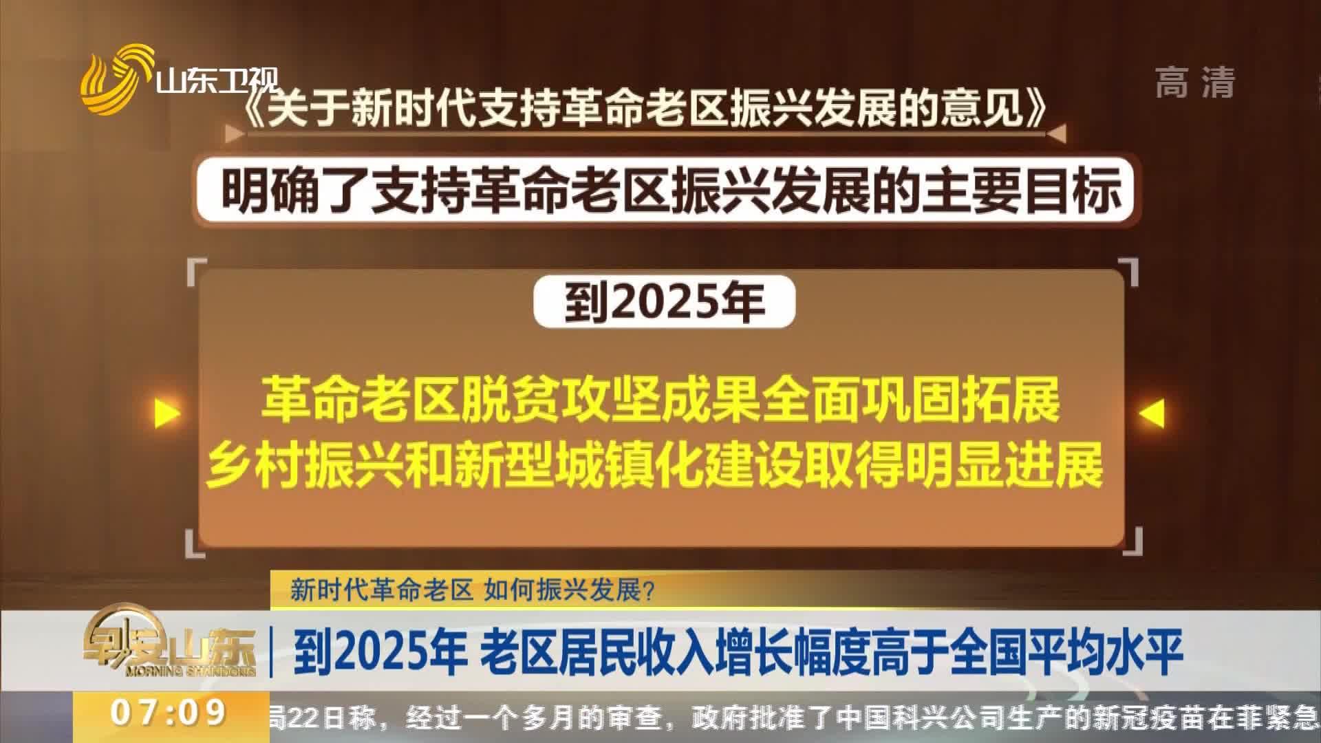 【新时代革命老区 如何振兴发展?】到2025年 老区居民收入增长幅度高于全国平均水平