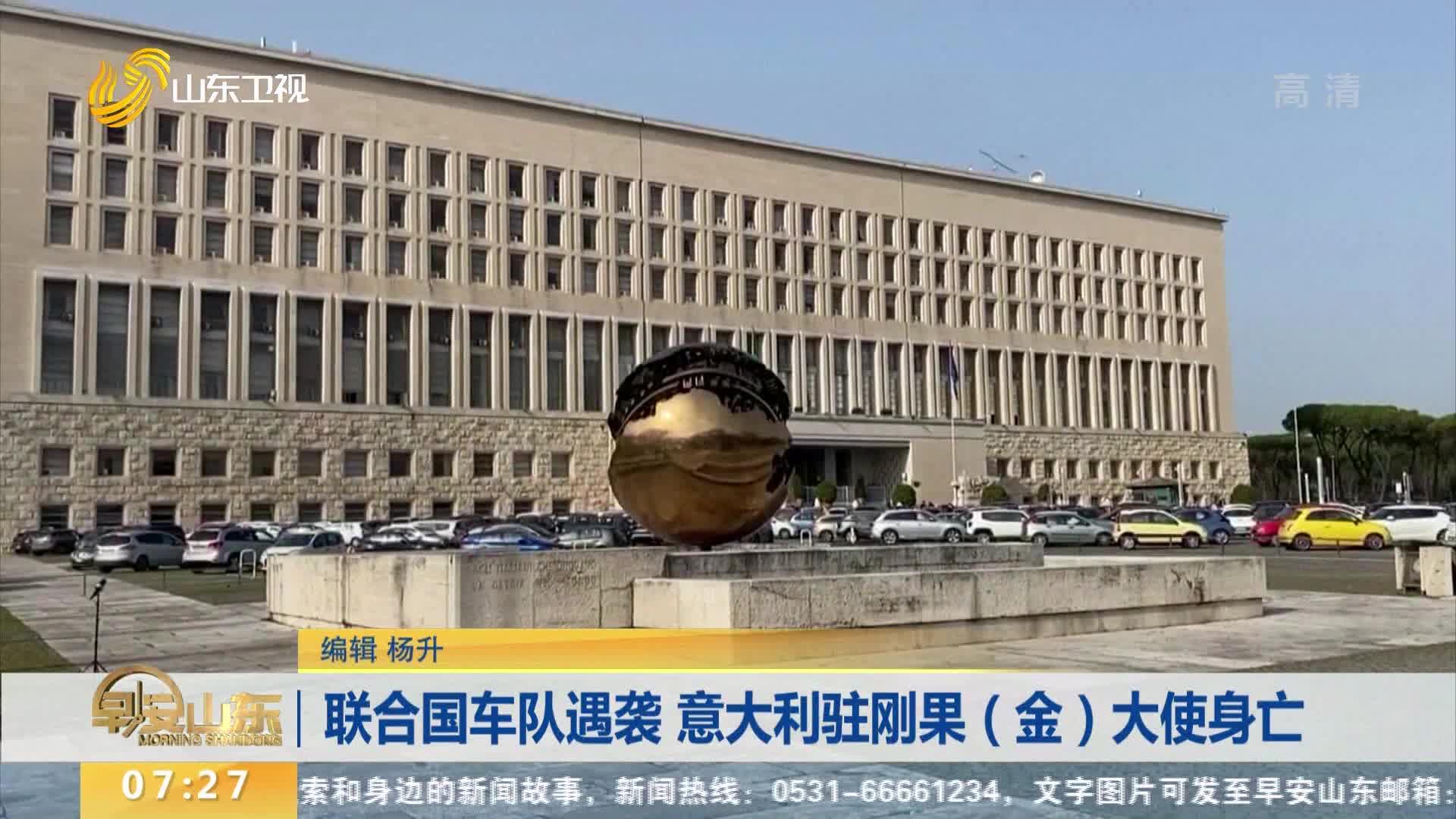 联合国车队遇袭 意大利驻刚果(金)大使身亡