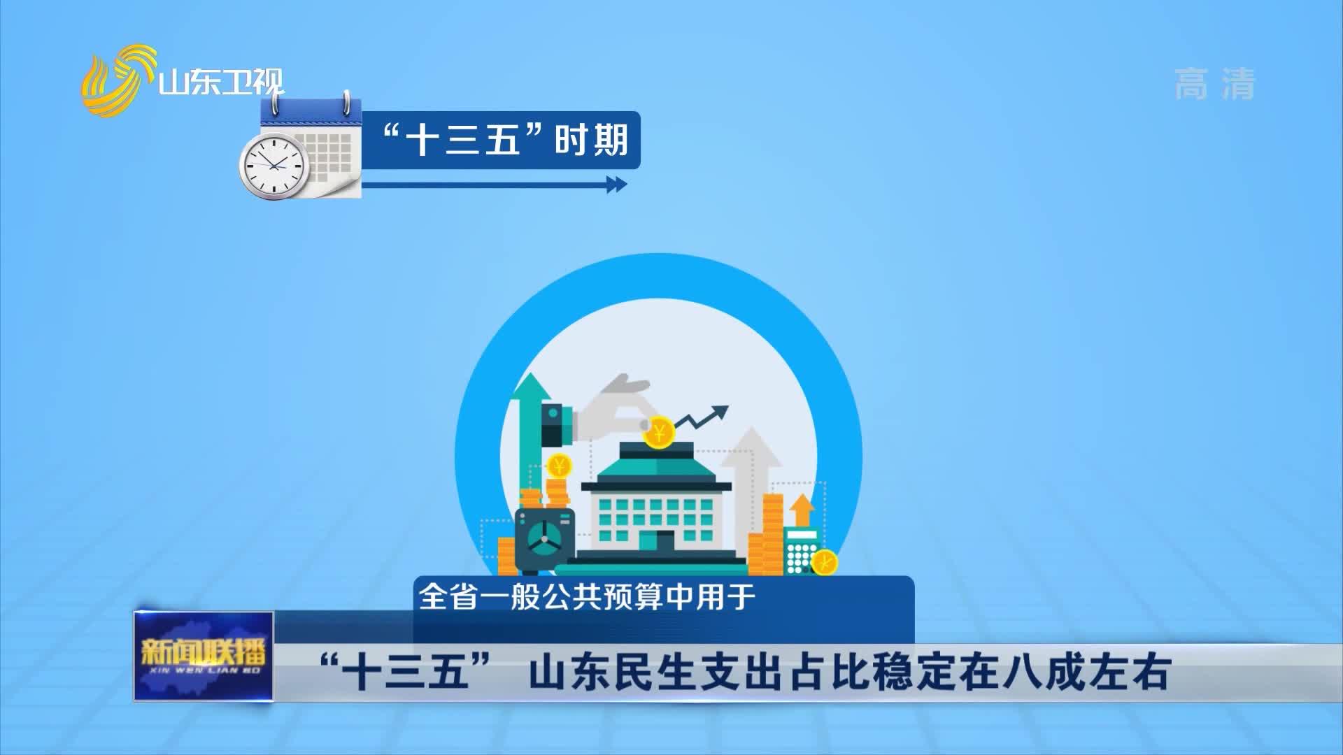 """【权威发布】""""十三五"""" 山东民生支出占比稳定在八成左右"""