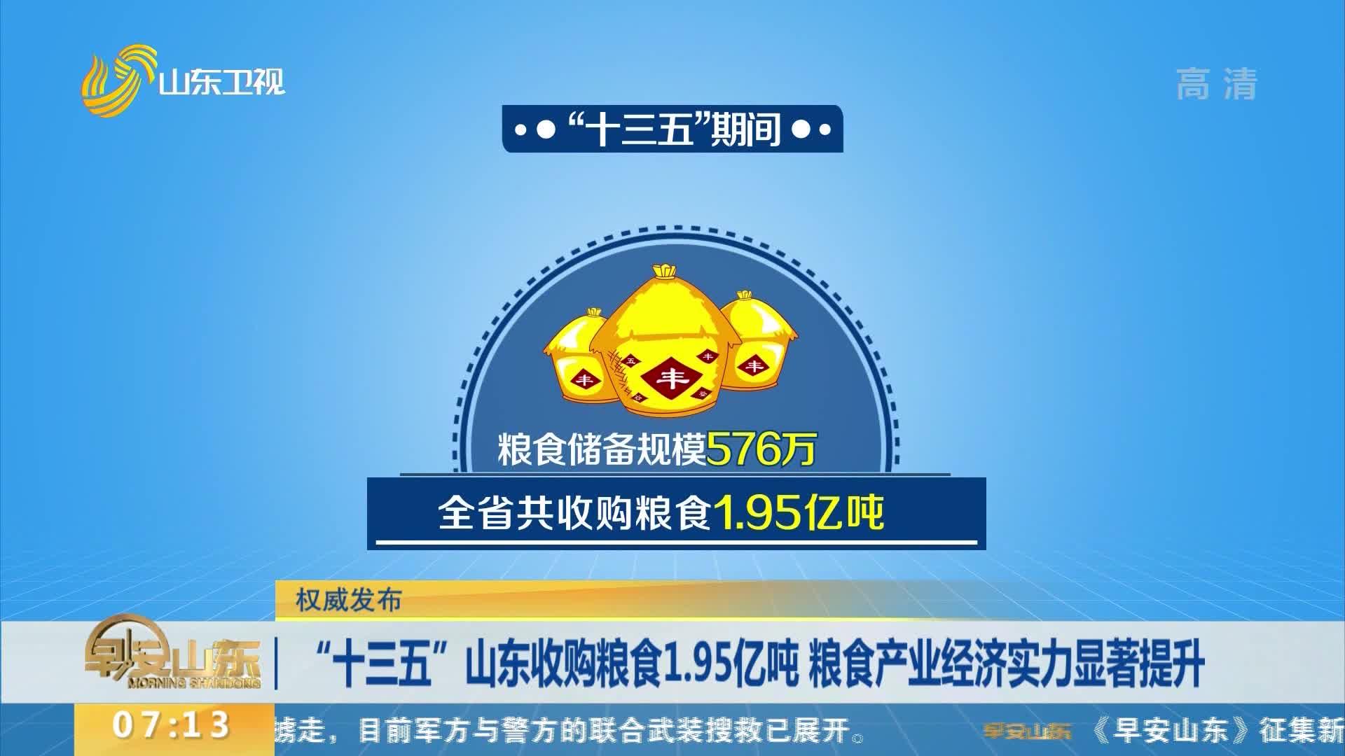 """""""十三五""""山东收购粮食1.95亿吨 粮食产业经济实力显著提升"""
