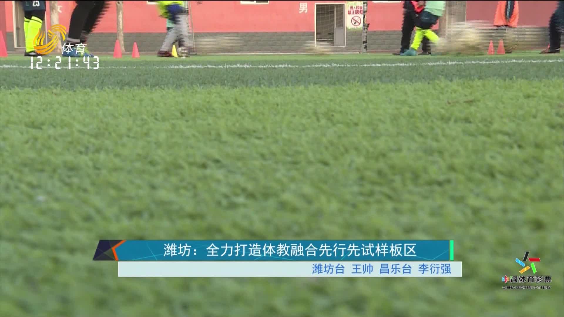 潍坊:全力打造体教融合先行先试样板区