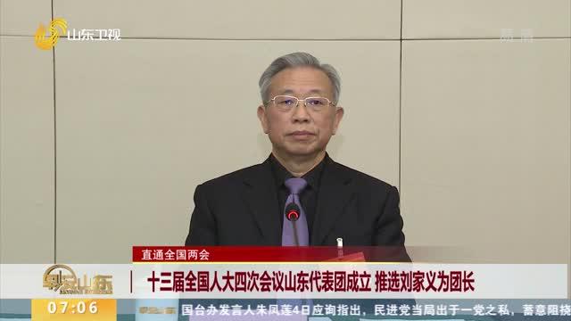 【直通全国两会】十三届全国人大四次会议山东代表团成立 推选刘家义为团长