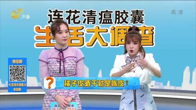 2021年03月13日《生活大调查》:橘子皮晒干就是陈皮?
