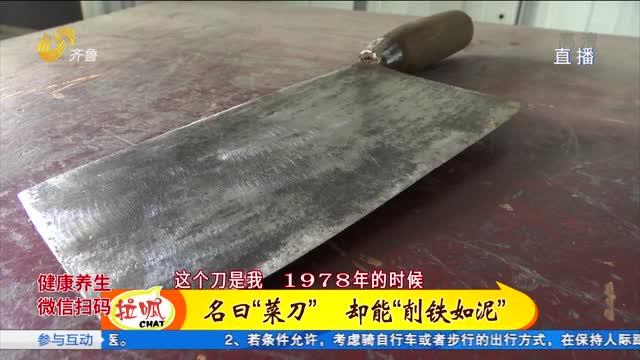 看刀!章丘菜刀削铁如泥谁敢来比试