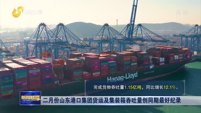 二月份山东港口集团货运及集装箱吞吐量创同期最好纪录
