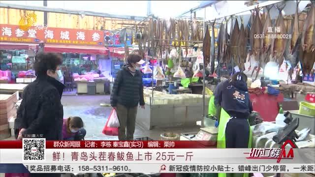 【群众新闻眼】鲜!青岛头茬春鲅鱼上市 25元一斤