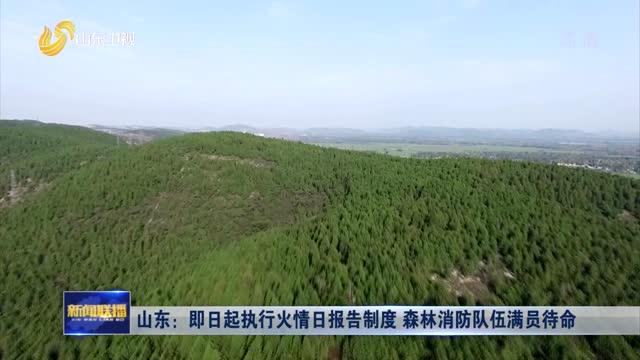山东:即日起执行火情日报告制度 森林消防队伍满员待命