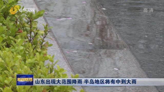 山东出现大范围降雨 半岛地区将有中到大雨