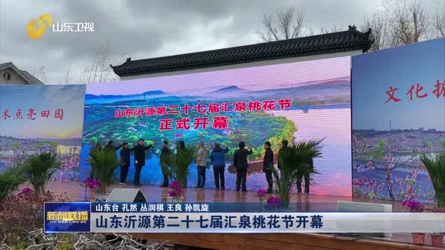 山东沂源第二十七届汇泉桃花节开幕
