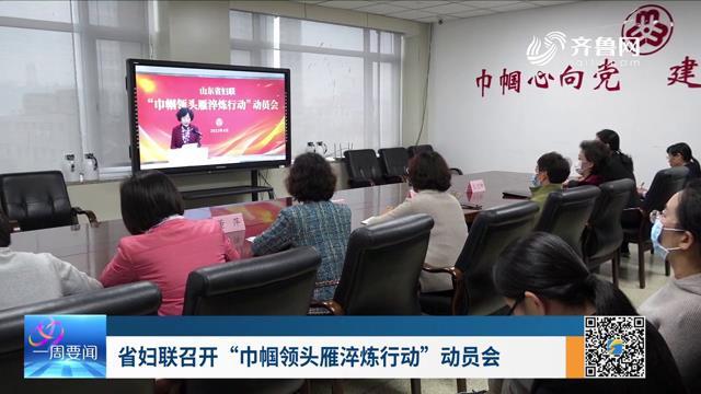 """省妇联召开""""巾帼领头雁淬炼行动""""动员会"""