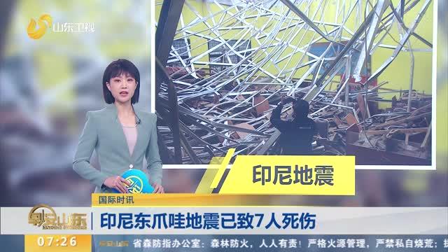 【国际时讯】印尼东爪哇地震已致7人死伤