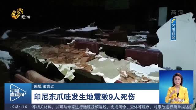 印尼东爪哇发生地震致9人死伤