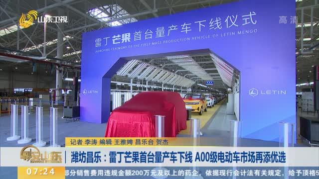 潍坊昌乐:雷丁芒果首台量产车下线 A00级电动车市场再添优选