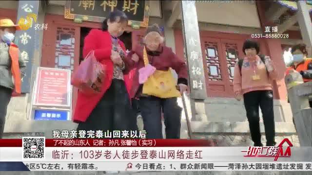 【了不起的山东人】临沂:103岁老人徒步登泰山网络走红