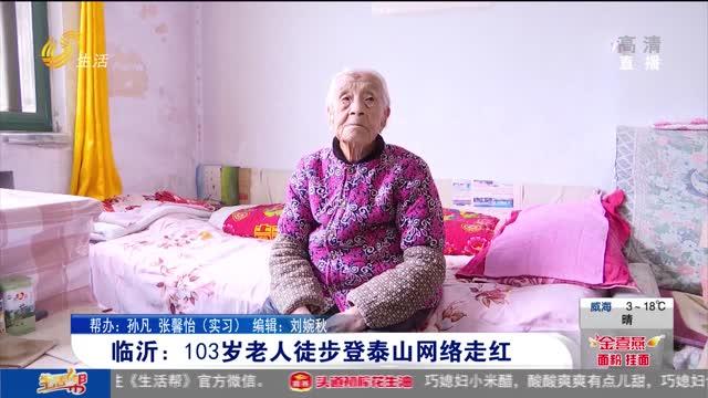 临沂:103岁老人徒步登泰山网络走红