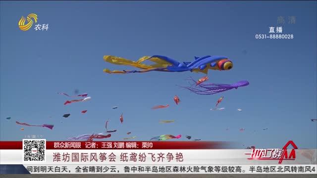 【群众新闻眼】潍坊国际风筝会 纸鸢纷飞齐争艳