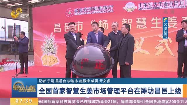 全国首家智慧生姜市场管理平台在潍坊昌邑上线