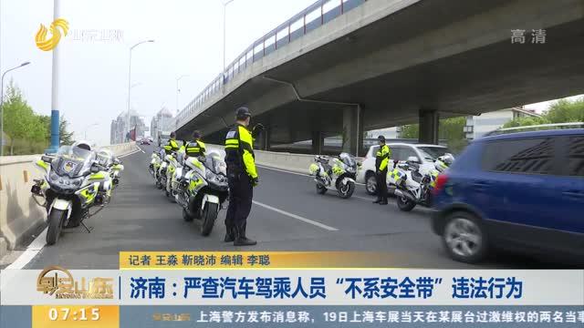 """济南:严查汽车驾乘人员""""不系安全带""""违法行为"""