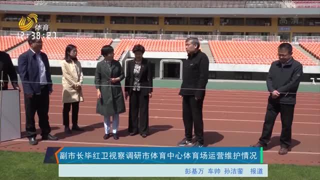 副市长毕红卫视察调研市体育中心体育场运营维护情况