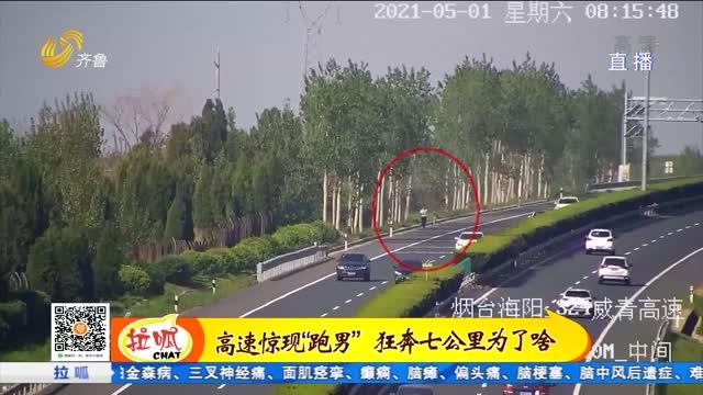 烟台:高速公路现跑男 狂跑7公里