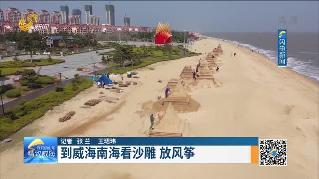 到威海南海看沙雕 放风筝