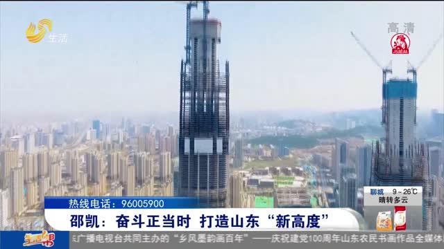 """邵凯:奋斗正当时 打造山东""""新高度"""""""