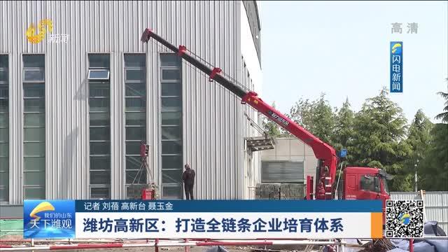 潍坊高新区:打造全链条企业培育体系