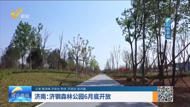 济南:济钢森林公园6月底开放