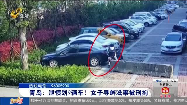 青岛:泄愤划9辆车!女子寻衅滋事被刑拘