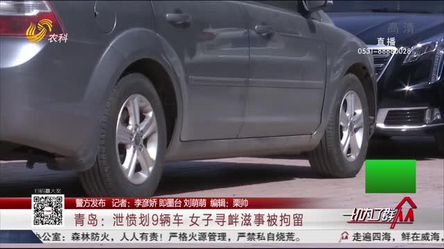 【警方发布】青岛:泄愤划9辆车 女子寻衅滋事被拘留