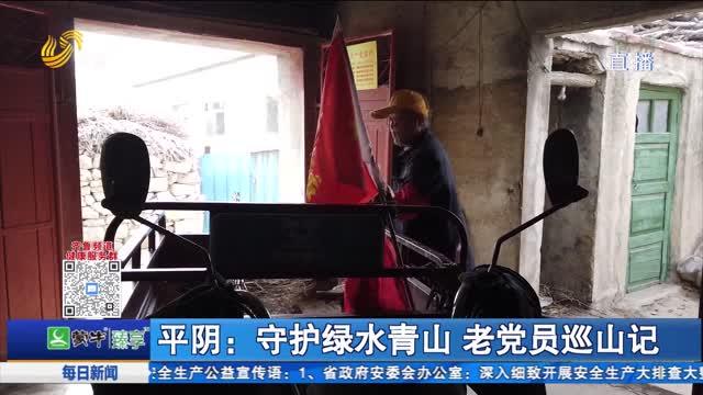 平阴:守护绿水青山 老党员巡山记