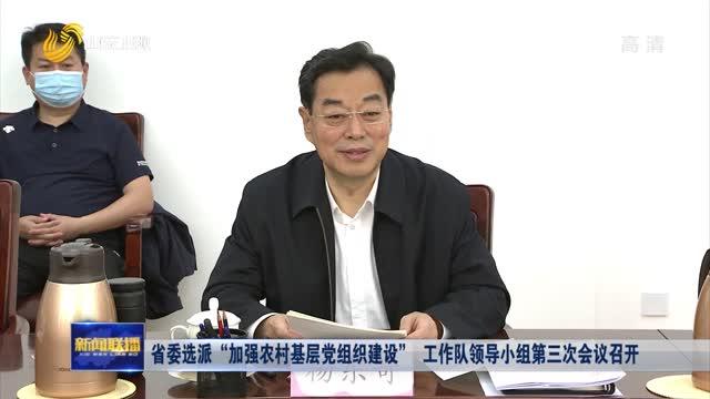 """省委选派""""加强农村基层党组织建设"""" 工作队领导小组第三次会议召开"""