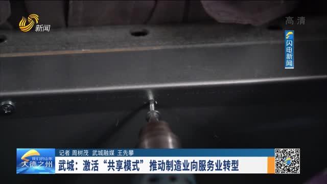 """武城:激活""""共享模式""""推动制造业向服务业转型"""