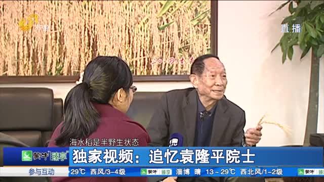 独家视频:追忆袁隆平院士