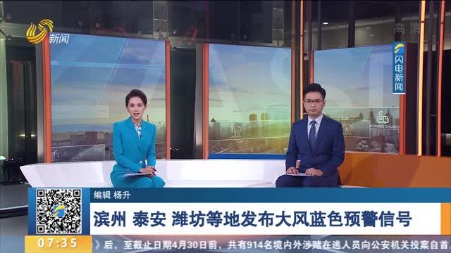 滨州 泰安 潍坊等地发布大风蓝色预警信号