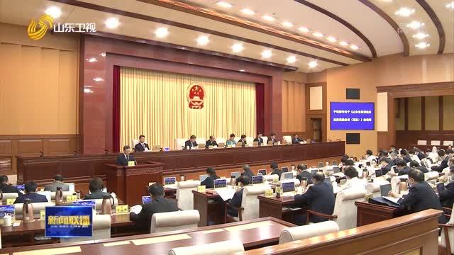 省十三届人大常委会第二十八次会议举行第二次全体会议
