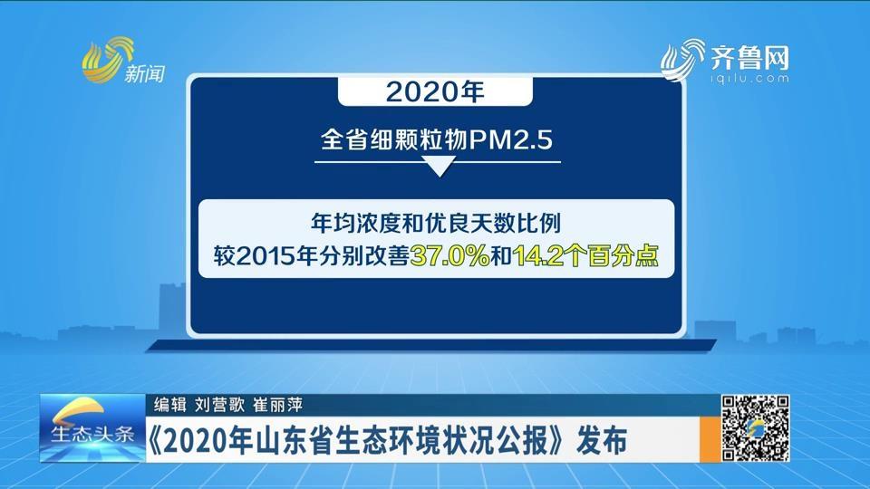 《2020年山東省生態環境狀況公報》發布