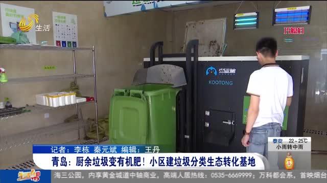 青岛:厨余垃圾变有机肥!小区建垃圾分类生态转化基地