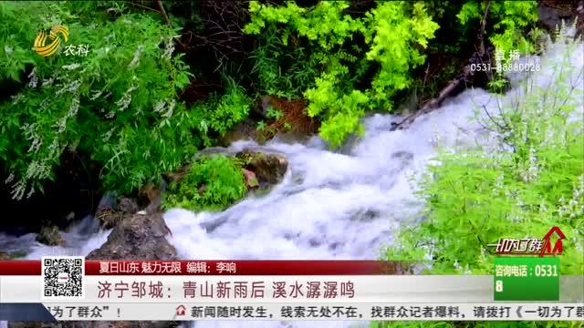 【夏日山东 魅力无限】济宁邹城:青山新雨后 溪水潺潺鸣